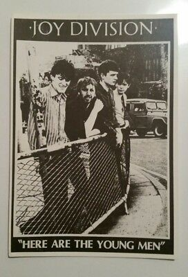 VINTAGE JOY DIVISION Postcard Post Card Here Are The Young Men England Rock Punk