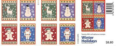 Winter Holidays Booklet	Scott #	4428B				Face Value	$8.80 	A000674