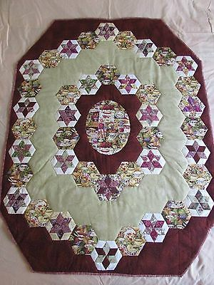 Hand Made Patchwork Quilt 110cm x 130cm Original design- lap quilt/wallhanging