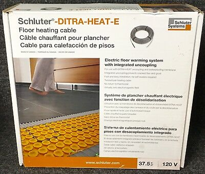 Schluter-DITRA-HEAT-E Floor Heating Cables 120V - DHEK12038 Coverage 37.5 Sq. Ft