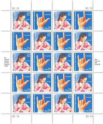 American Sign Language	Scott #	2783-2784				Face Value	$5.80 	A000728