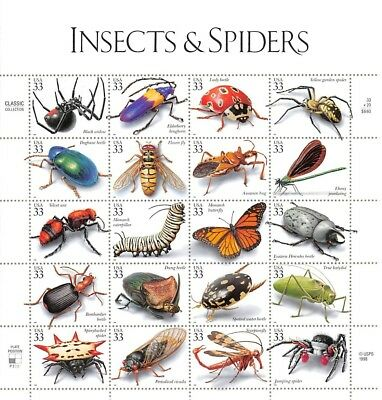 Insects & Spiders	Scott #	3351				Face Value	$6.60 	A000744