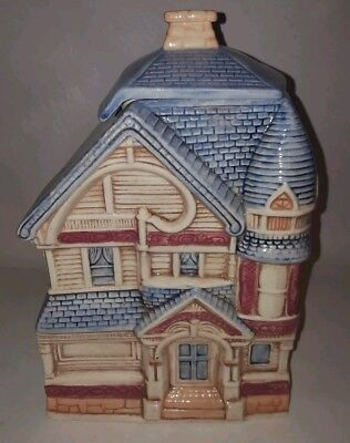 Blue Roof Victorian House / Home Cookie Jar by Treasure Craft