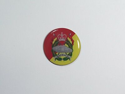 Royal Australian Armoured Corps Australian Army 30mm Printed Lapel Pin Anzac Day
