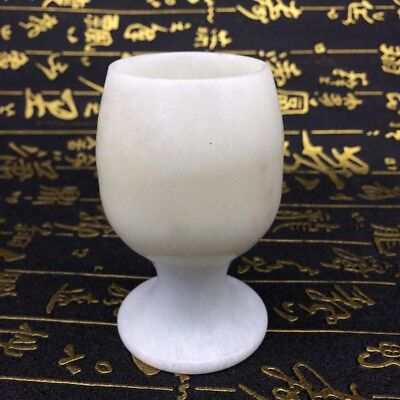 The ancient Chinese hand carved jade cup