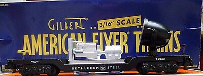 American Flyer #6-49032 Bethlehem Steel Depressed Center Searchlight Car