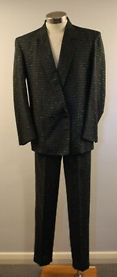 "MEDIUM, ORGINAL VINTAGE, 1980s MENS SUIT. ""ISIDOR'S LINEA UOMO"""