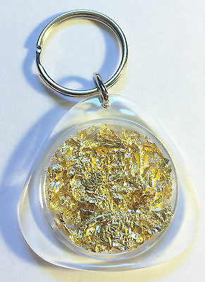 Awesome Key Ring Full of Gold Leaf/Flake (Add Some Bling To Your Keys)