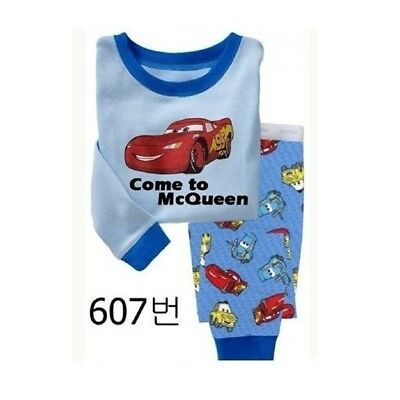 2017 Kids Boys Auto Story pajamas set 3T Baby sleepwear nightclothes pyjamas