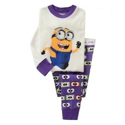 New listing Boys kids baby Minions pajamas set 3T cotton sleepwear nightclothes