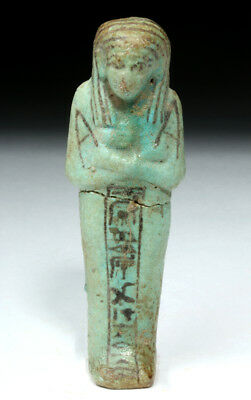 Egyptian Third Intermediate Faience Ushabti Lot 2A