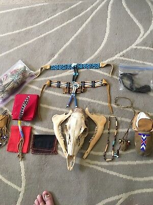 Early 1800 plains medicine man collection.