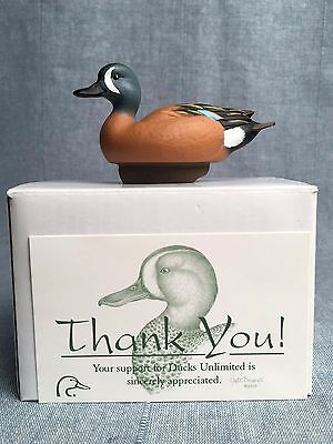 Jett Brunet Miniature Blue Winged Teal Duck Decoy DU Ducks Unlimited NIB