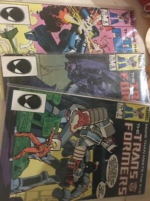 Vintage Marval Transformers Comic Books. Set Of Three