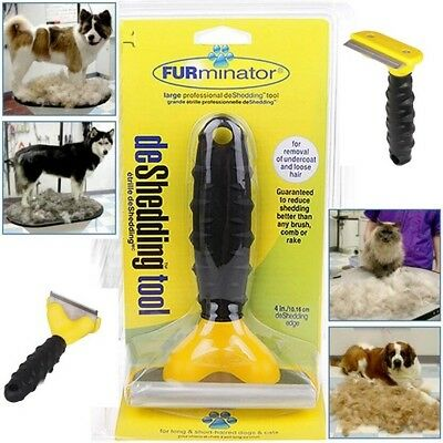 2x Large DeShedding Grooming brush comb rake tool for Dog/Cat Long/Short hair
