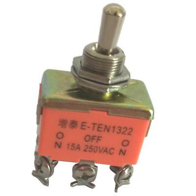6Pin 3Position ON-OFF-ON DPDT Latching Toggle Switch AC 250V 15Amp