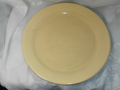 "Huge Vintage Yellow Ceramic Serving Platter ""bauer Los Angeles"" 13"""