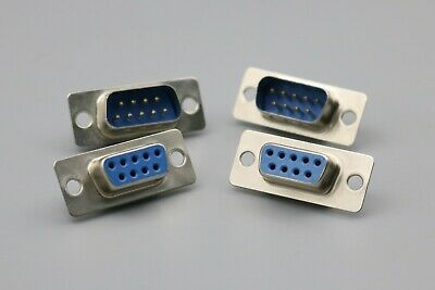 5Pairs/10Pcs RS232 Serial 9 Pin DB9 connectors female and male soldering plug