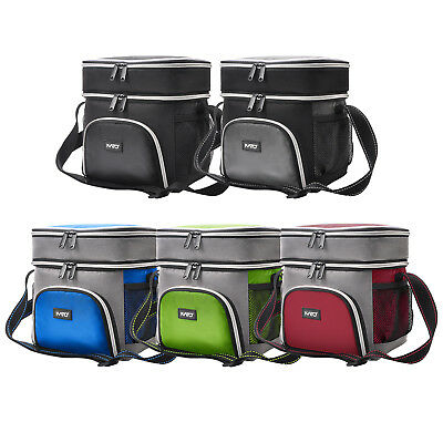 Kato Adult Dual Compartment Reusable Bento Insulated Lunch Cooler Bag Box Tote