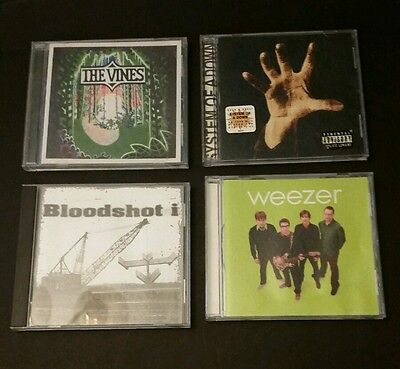 15.20#2) Lot of 4 Heavy metal Music CD's Weezer System of a Down Bloodshot i
