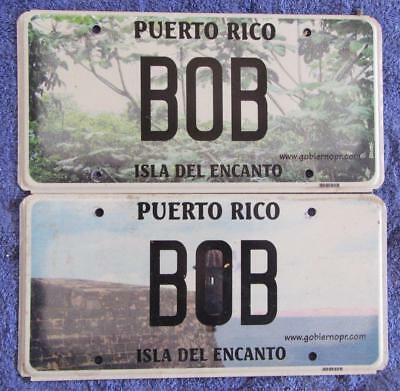Bob Peurto Rico License Number Plates