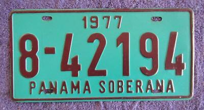 1977 Panama License Number Plate # 8-42194