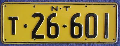 1960's Nt Trailer License Number Plate # T-26-601
