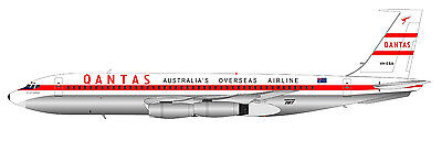 Inflight 200 If70710817 1/200 Qantas Boeing 707-138 Vh-Eba With Stand