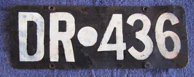 Obsolete Wa Shire License Number Plate # Dr.436