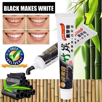 Pro 100g Bamboo Charcoal All-Purpose Teeth Whitening Clean Black Toothpaste NEW