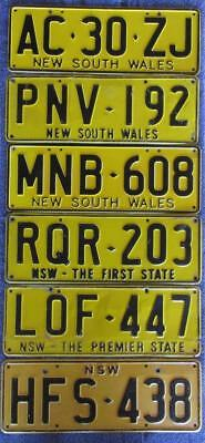 Nsw X 6 License Number Plates
