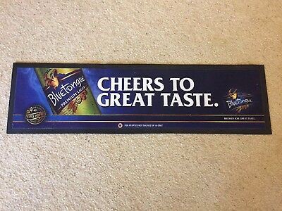 Blue Tongue Bar Mat Runner Beer Home Brew Pub Collectable