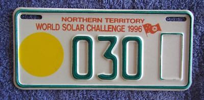 Solar Challenge Nt License Number Plate # 030
