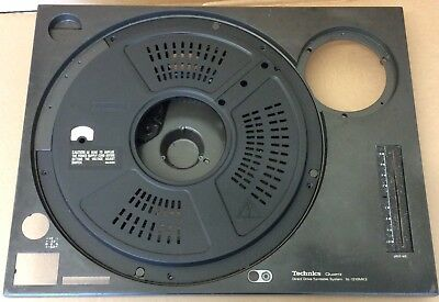 Technics Sl1210 Mk2 2 X Top Plate / Chassis Inc Motor Plate Cover.