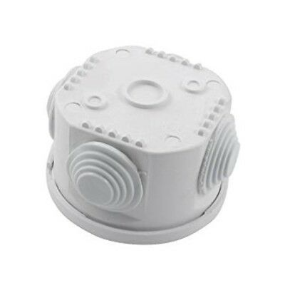 Waterproof Round Junction Box IP55 Cable Joint Grommets White K8B6