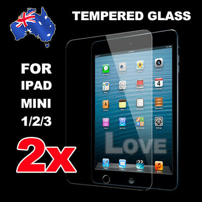2X New Tempered Glass Screen Protector Film Guard for iPad Mini 1 2 3