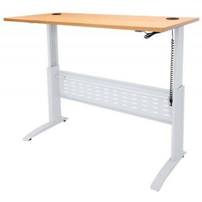 Rapid Rapid Span Electric Height Adjustable Desk 1200 X 700 X 685-1205Mm Beech/w