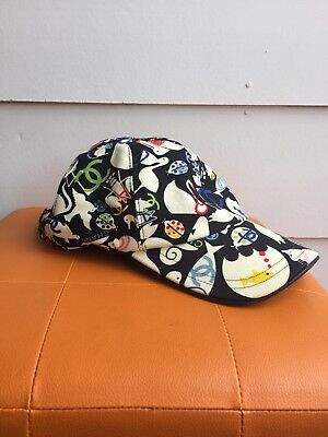 Authentic CHANEL Multi-Coloured Animals Baseball Cap Hat Size M