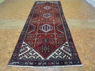 Exquisite 1950's Authentic Mint Hand Made Persian Shahsavand Runner Rug