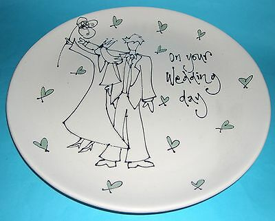Gallery Thea Art pottery Southwold - Hand Decorated Wedding Plate.