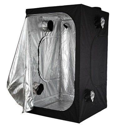 Hydroponic Grow Room Indoor Dark Room Mylar Tent Size:120x120x200cm A7D3