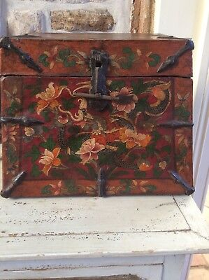 Mini Tibetan Antique Chest