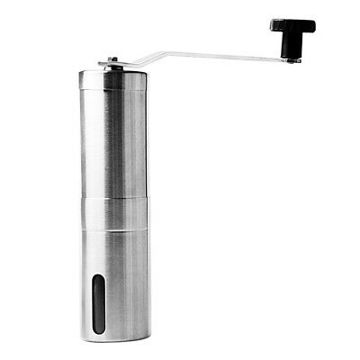 Portable Stainless Steel Hand Crank Coffee Grinder Mill T4Y2