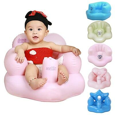 New Baby Inflatable Seat Toddler Stool Training Sofa Portable Bath Feeding Chair