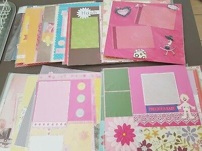"""50 X """"12x12"""" Handmade Scrapbooking PAGES"""