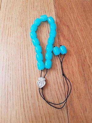 Komboloi Greek Worry Beads - Light Blue - From Greece -Christmas Stocking Filler