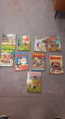 Job Lot Boys and Sports Annuals 1970s