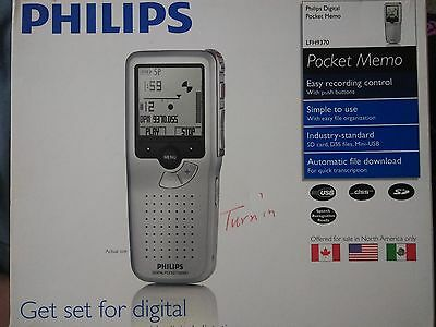 Philips LFH-9370 Rechargeable Pocket Memo Digital Voice Recorder(LFH9370/52) NEW