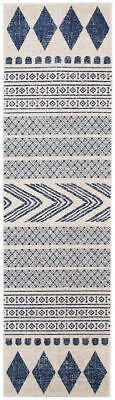 Hallway Runner Rug Navy Hall Runner Floor Carpet Mat 3 Meters Long Modern Design