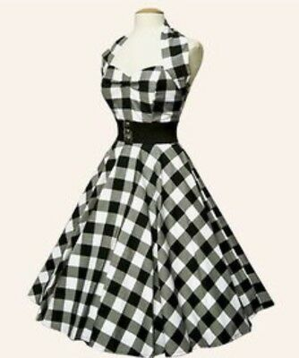 Vivien Of Holloway Size 24/20 Gingham Circle Dress 1950s